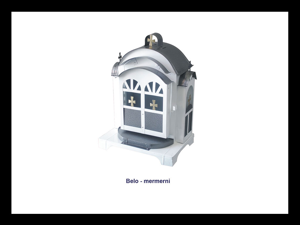 Temple za groblje - Beli mermer