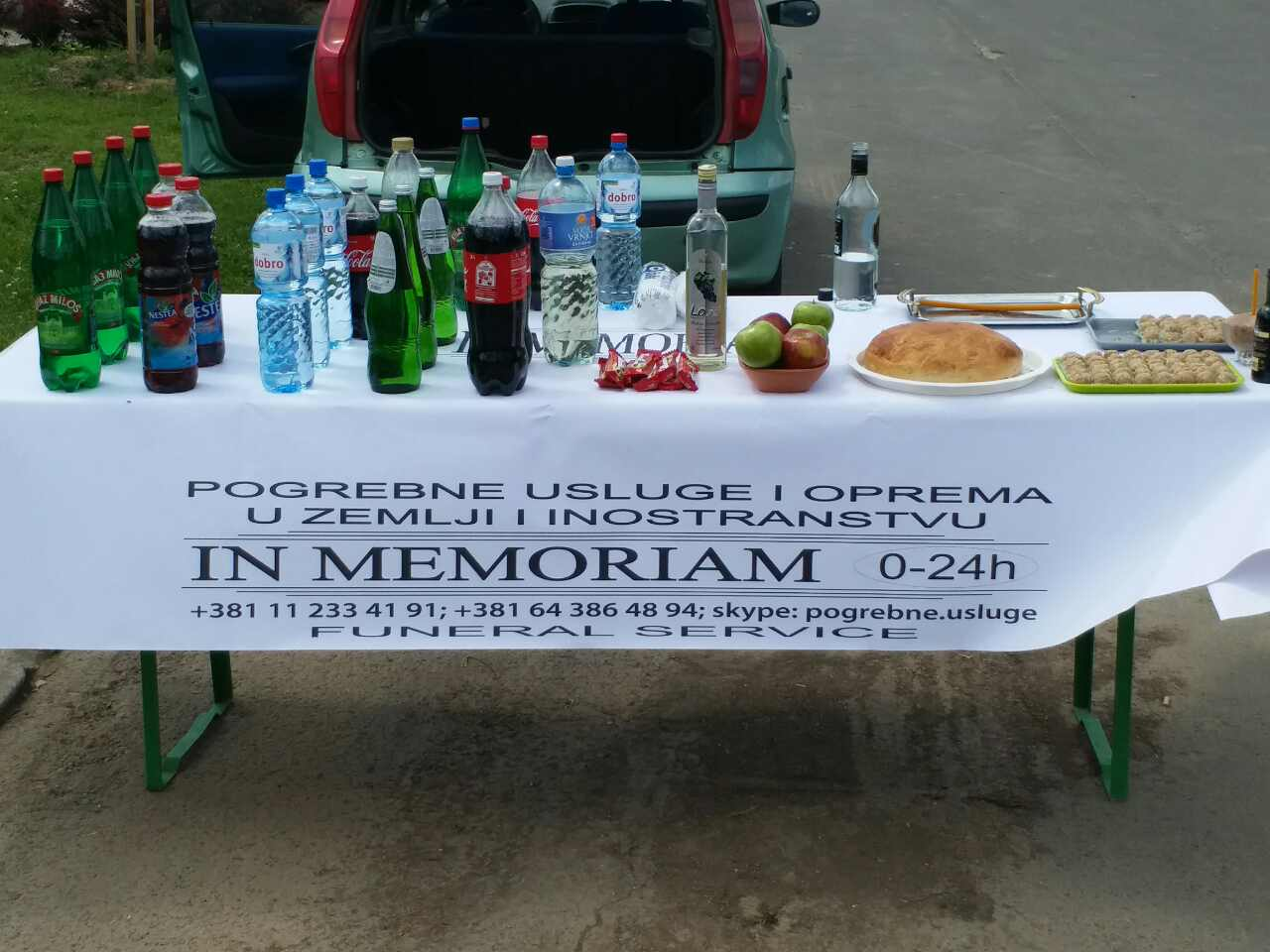 Refreshments at the cemetery