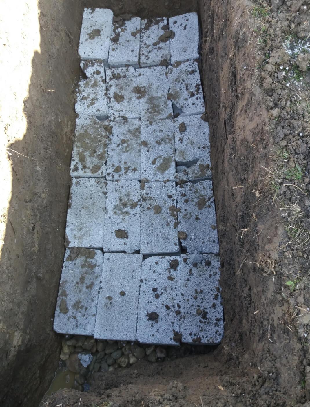 Digging graves