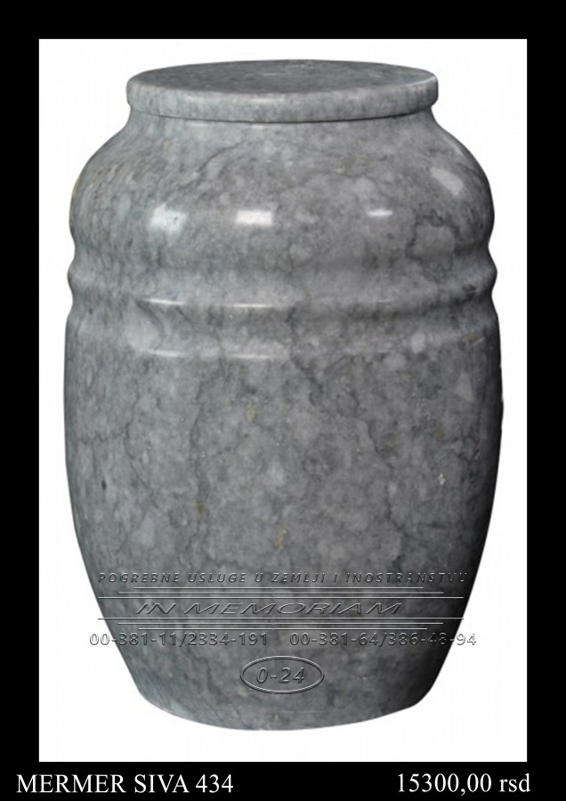 Urna - Mermer siva 434